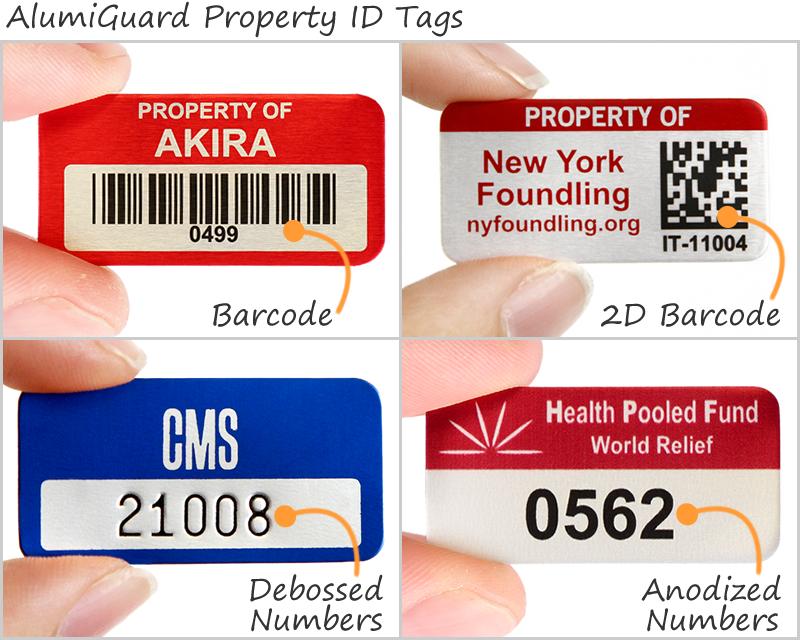 AlumiGuard Property ID Tags