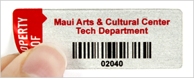 Aluminum foil asset labels