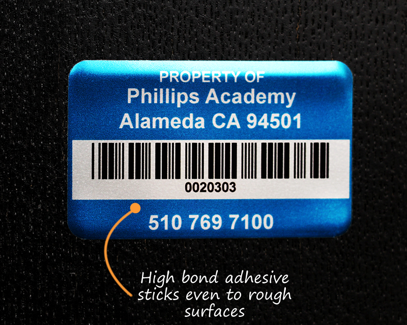 Asset tags for universities