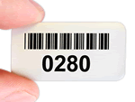Stock barcode labels