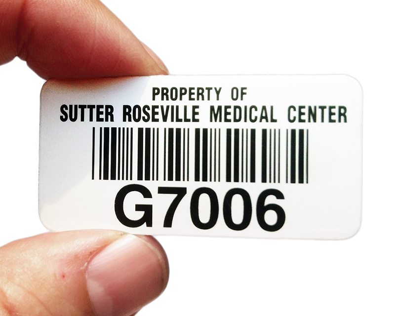 Medical clinic property id tag
