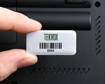 Metal asset tag for laptop