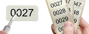 Metal Serial Numbers