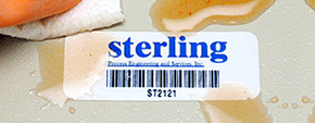 Barcode labels with protective plastic