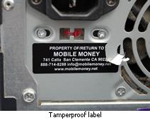 Tamperproof and destructible asset label for computers