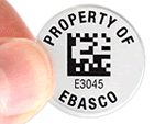 property tags with 2D barcodes
