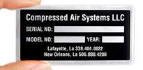 Metal Equipment Name Plates