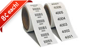 Consecutive Numbers or Barcodes in a Roll