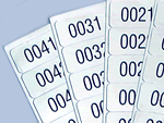 Pre-Numbered Anodized Aluminum Labels