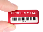 Stock Metal Property ID Tags
