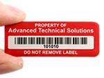 Security Barcode Labels