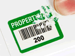 Stock Security Labels with Barcodes