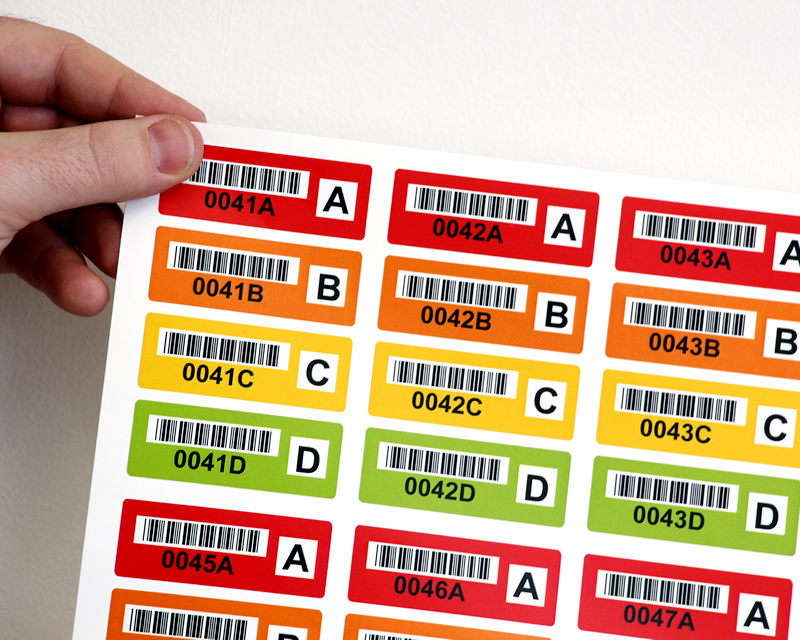 Colored Barcode Labels - Effectively Organize Your Assets