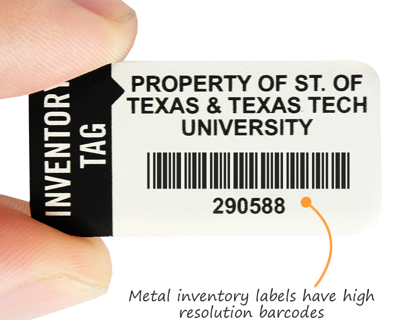 Preprinted Barcode Labels Printed Asset Tags