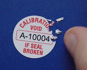 Destructible Calibration Seals
