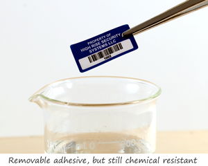 Chemical Resistant Removable Labels
