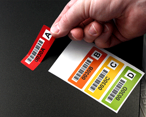 Color-coded barcode labels