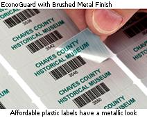 EconoGuard plastic asset labels