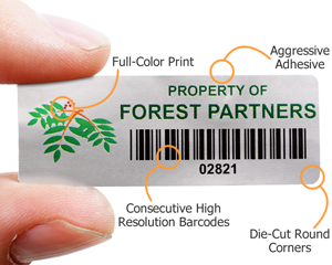 Economical barcode labels