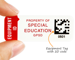 Equipment Tag with 2D code