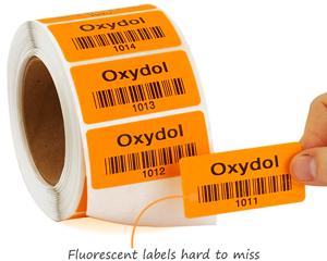 Consecutive barcode labels