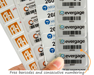 Full color metal asset tags