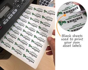 Laser Printable Asset Label Sheets
