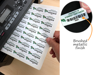 Laser printable asset labels