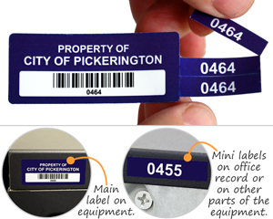 Multipart Barcode Labels