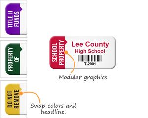 School asset tag designs
