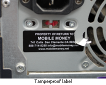 Tamperproof and destructible asset label for computers