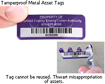 Tamperproof Metal Asset Tags