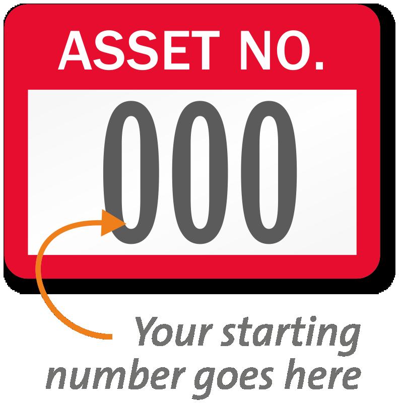 Asset Number Labels, Choose Consecutive Starting Number, SKU: AT-C ...