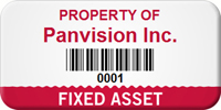 Custom Fixed Asset Tag