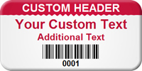 Customized Asset Tag with Barcode