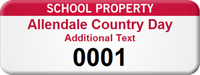 Customize School Property Asset Tag with Numbering