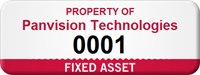 Custom Fixed Asset Tag with Numbering