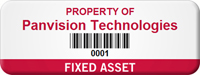 Personalized Fixed Asset Tag with Barcode