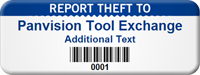Custom Report Theft To Asset Tag with Barcode