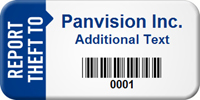 Personalize Report Theft To Asset Tag with Barcode