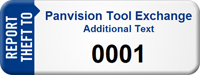 Customized Report Theft Asset Tag with Numbering