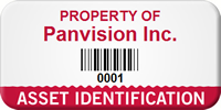 Custom Property Of Asset Identification Tag With Barcode
