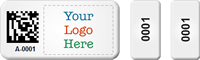 Custom Multipart 2D Barcode Logo Asset Tag