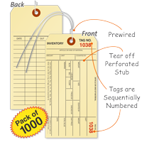 1-Part Manila Tags With Wire