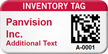 Custom 2D Inventory Tag Barcode Asset Tag