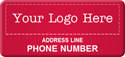 Asset Label, Company Name with Phone Number