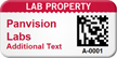 Custom 2D Lab Property Barcode Asset Tag