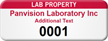 Customizable Lab Property Asset Tag with Numbering