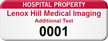 Personalized Hospital Property Asset Tag with Numbering