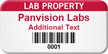 Custom Lab Property Barcode Asset Tag